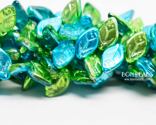 12x7mm Lagoon Celestial Leaves (300 Pieces)