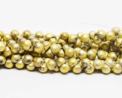 4mm Gold Ore Etched Wide Cap Mushroom Buttons (600 Pieces)