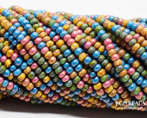 8/0 Aged Cotton Candy Picasso Mix  (1/4 Kilo)