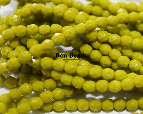 4mm Light Jade Round Fire Polished (600 Pieces)
