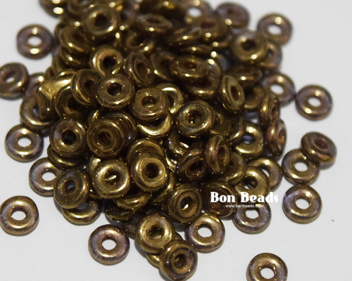 4x1mm Bronze Gold O Beads (100 Grams)
