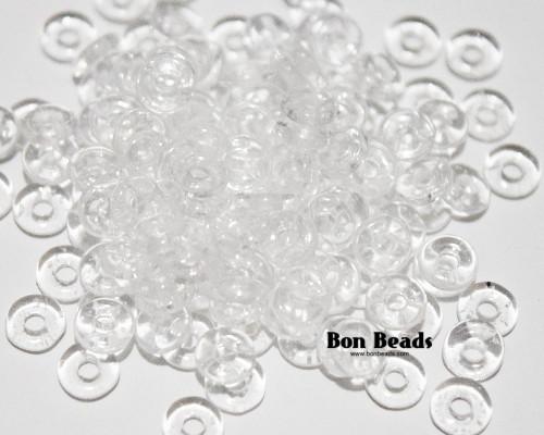 4x1mm Crystal Luster O Beads (100 Grams)