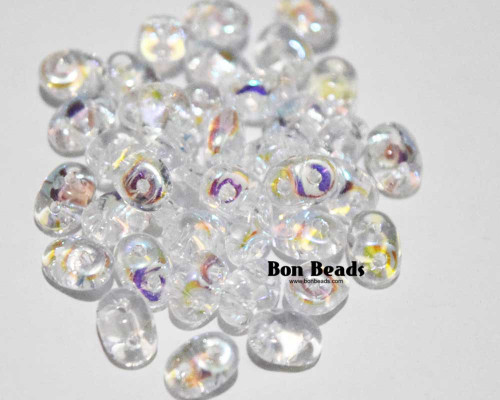 2.5x5mm Crystal AB Superduos (50 Grams)