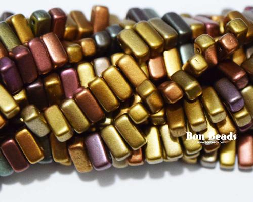 3x6mm Metallic Iris Mix 2 Hole Bricks (600 Pieces)
