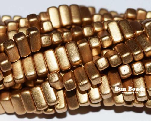3x6mm Aztec Gold 2 Hole Bricks (600 Pieces)