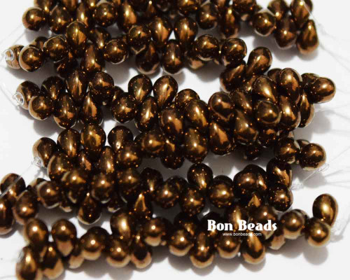 4x6mm Antique Bronze Drops (300 Pieces)