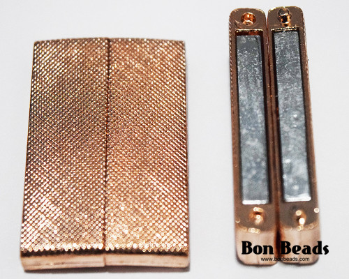 40x24x7mm Copper Wide Magnetic Bar Clasp (Each)
