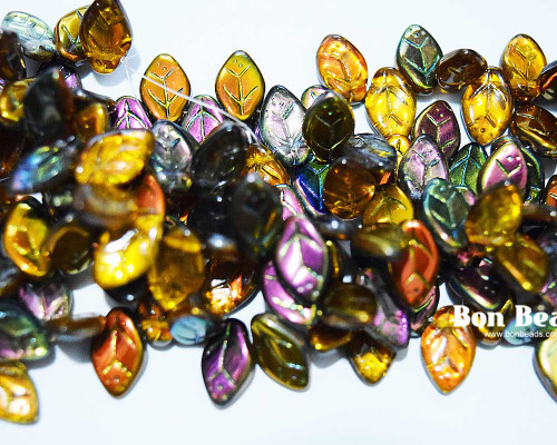 12x7mm Magic Amber Leaves (300 Pieces)