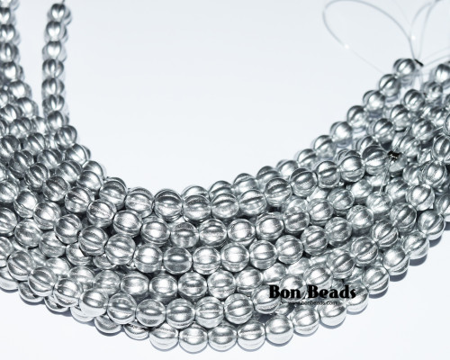6mm Silky Silver Melons (300 Pieces)