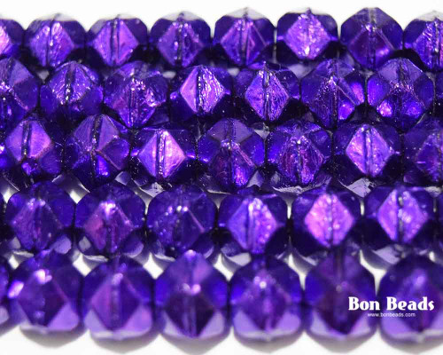 10mm Iced Purple Radiant English Cuts (150 Pieces)