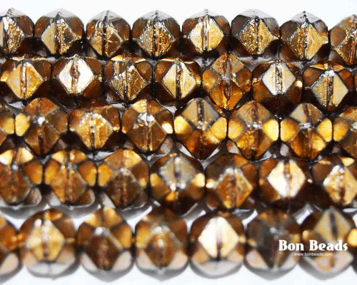 10mm Heavy Metal Old Gold English Cuts (150 Pieces)