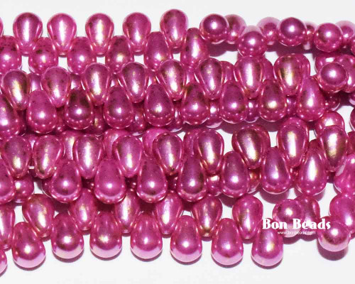 4x6mm Pink Gold Dust Drops (300 Pieces)