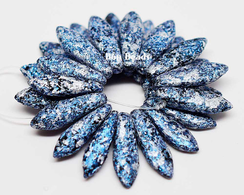 5x16mm Granite Galaxy Lapis Etched Daggers (300 Pieces)
