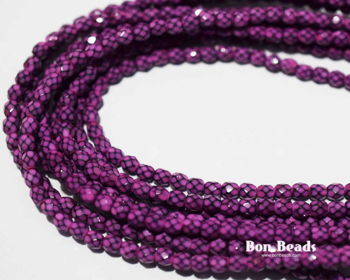 4mm Light Magenta Round Snake Fire Polished (600 Pieces)