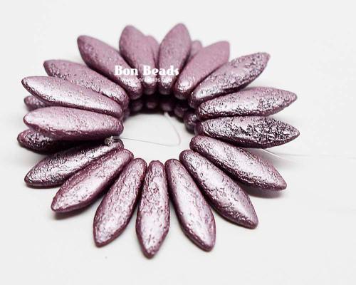 5x16mm Pastel Violet Etched Daggers (300 Pieces)