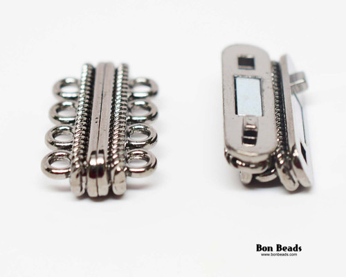 30x17x7mm 8 Holes Gunmetal Magnetic Bar Clasp (Each)