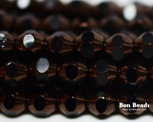 6mm Antique Bronze Cut Fire Polished Bicones (300 Pieces)