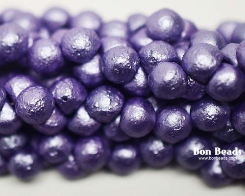 7mm Pastel Purple Etched Wide Cap Mushroom Buttons (150 Pieces)