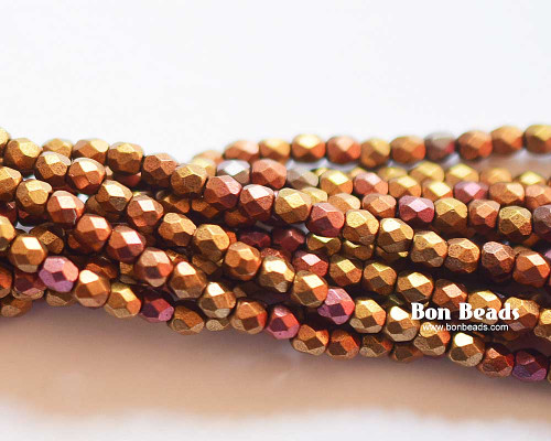 3mm Metallic Iris Mix Round Fire Polished (600 Pieces)