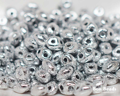 2.5x5mm Silver Ore Etched Pressed  Twins (50 Grams)