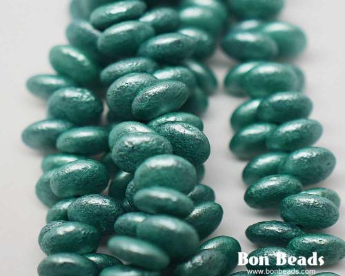 6mm Pastel Green Etched Lentils (300 Pieces)
