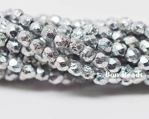 3mm Silver Ore Etched Fire Polished (600 Pieces)
