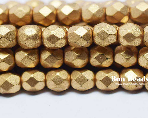 6mm Aztec Gold Round Fire Polished (300 Pieces)