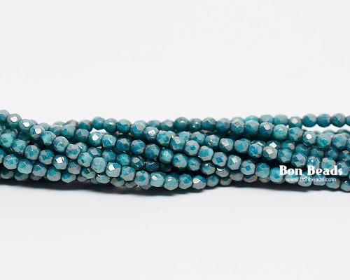 True 2mm Green Turquoise Moondust Round Fire Polished (600 Pieces)