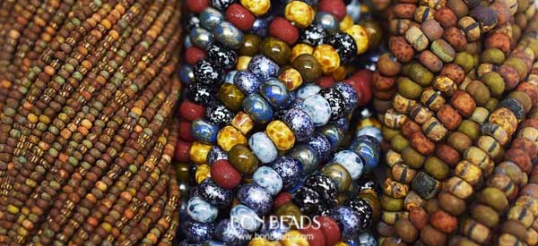 new and restocked aged stripped seed beads