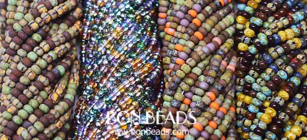 new aged seed beads mixes