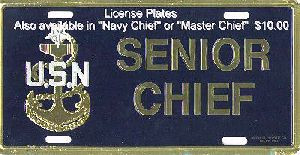 Senior Chief License Plate