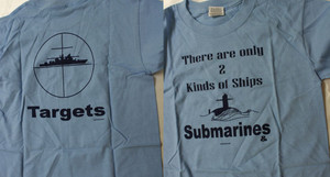 Children's T-shirts-Two Types of Ships
