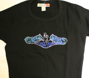 Crystal Dolphins Shirts, Lycra Scoop Neck