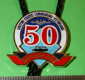 Qualified in Submarines for 50 years? Add this beautiful Holland Club Bolo string tie to your collection