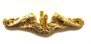 Officer Gold Dolphin Pins-Full Size