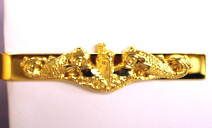 Tie Clasp, Tie Bar Officer Gold Dolphins