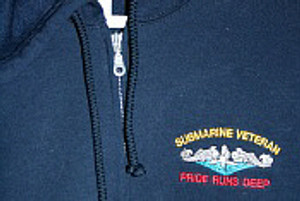 Hooded, Zippered Sweatshirt Available in Navy, Royal blue, Black, Red, White and Tan