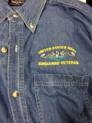 Denim Shirts: SubVet With Dolphins
