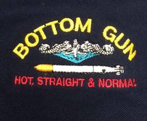 Bottom Gun Example embroidery