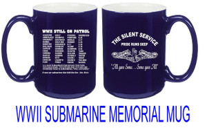 WWII Submarine Memorial Mug