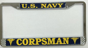 U.S. Navy Corpman License Plate Frame