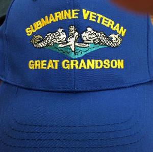 Submarine Great Grandson ballcaps