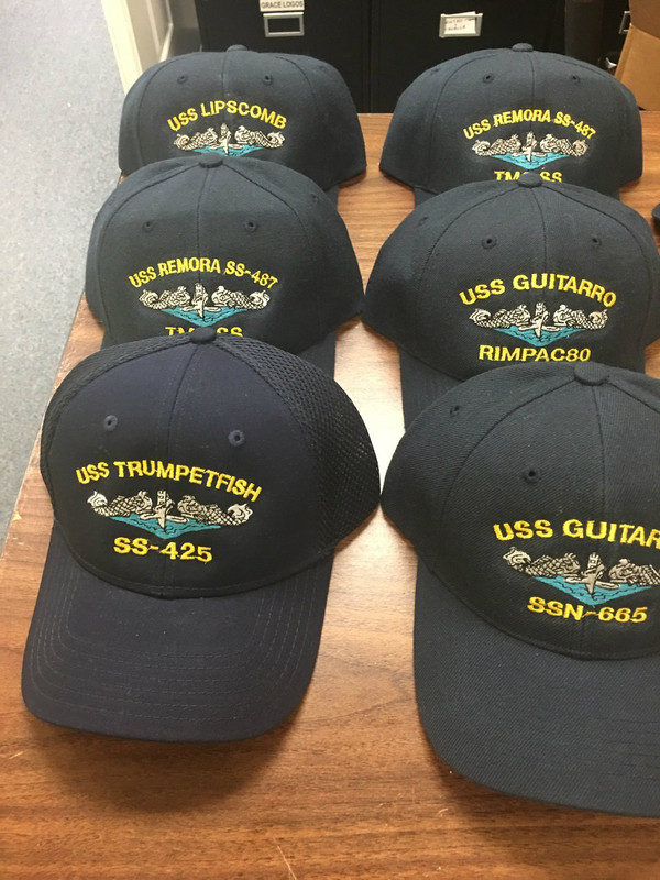 BOAT CAP, SUBMARINE BALLCAP, CUSTOM EMBROIDERED & PERSONALIZED
