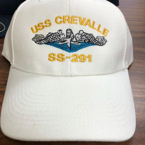 White cap custome embroidery