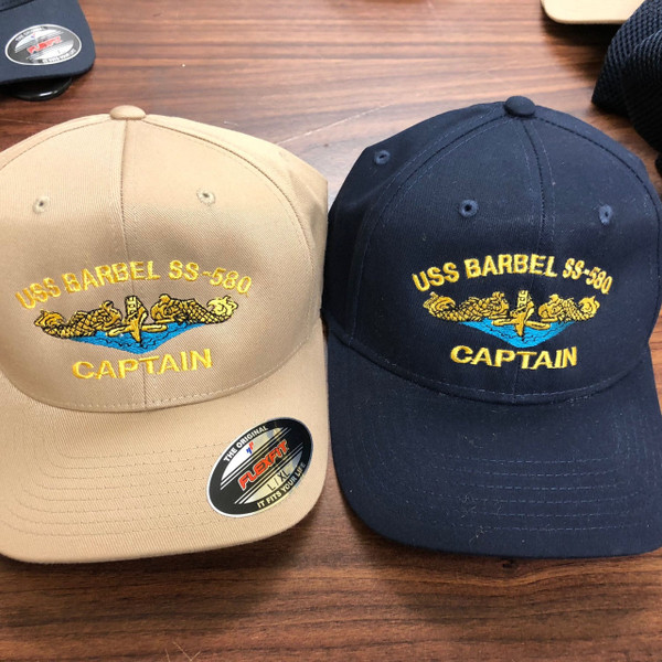 Custom Embroidered Ball Cap, Gold Dolphins