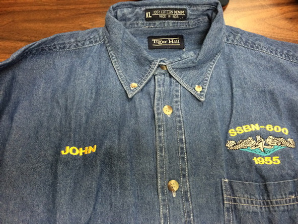 Custom Embroidered  Denim shirt