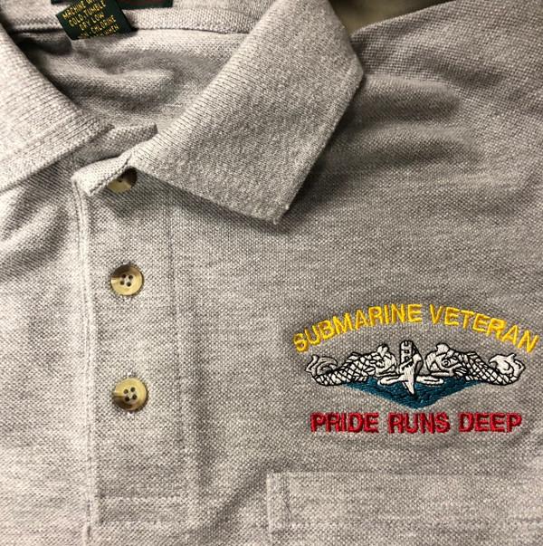 Ash Gray Pocket  Polo Submarine Veteran, Pride runs deep