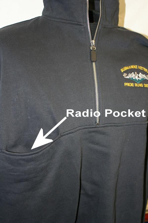 Sweaters/work shirt--Charles River Heavy Quarter Zip: Pride Runs Deep