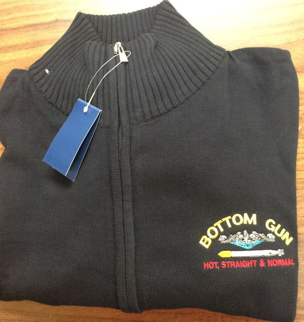 Sweaters--Alpine Full Zipper: Bottom Gun