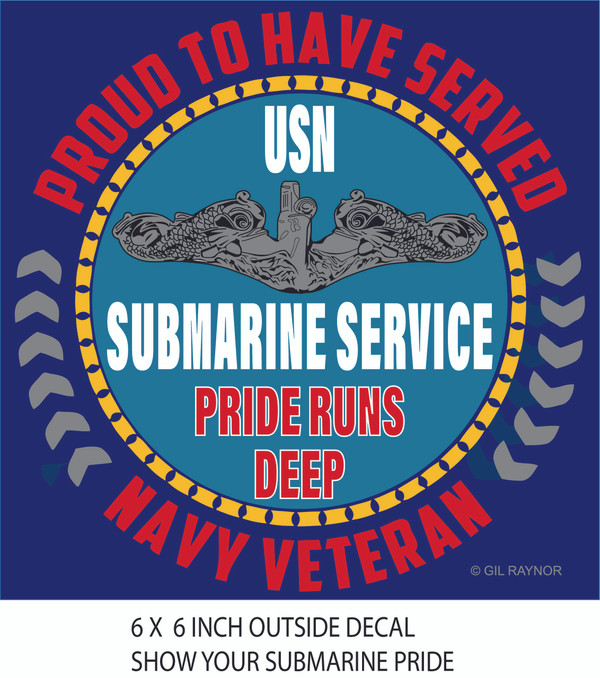 Decal, Proud to Serve-submarine service